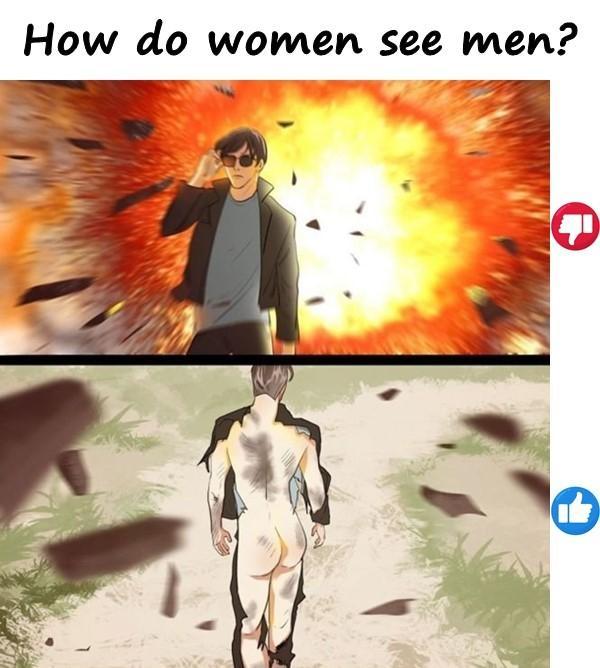How do women see men?