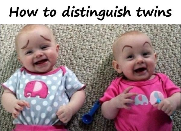 How to distinguish twins