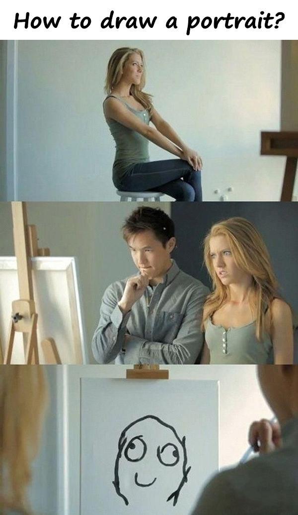 How to draw a portrait?