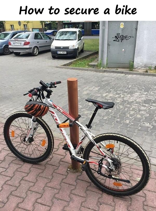 How to secure a bike
