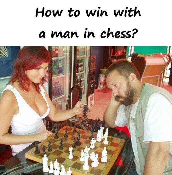 How to win with a man in chess?