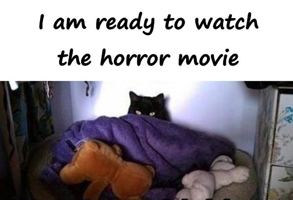 I am ready to watch the horror movie