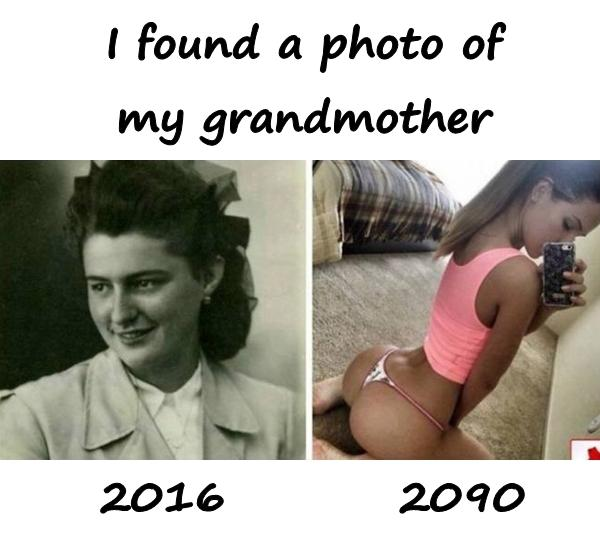 I found a photo of my grandmother