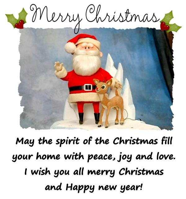 May the spirit of the Christmas fill your home with peace, joy and love. I wish you all merry Christmas and Happy new year!