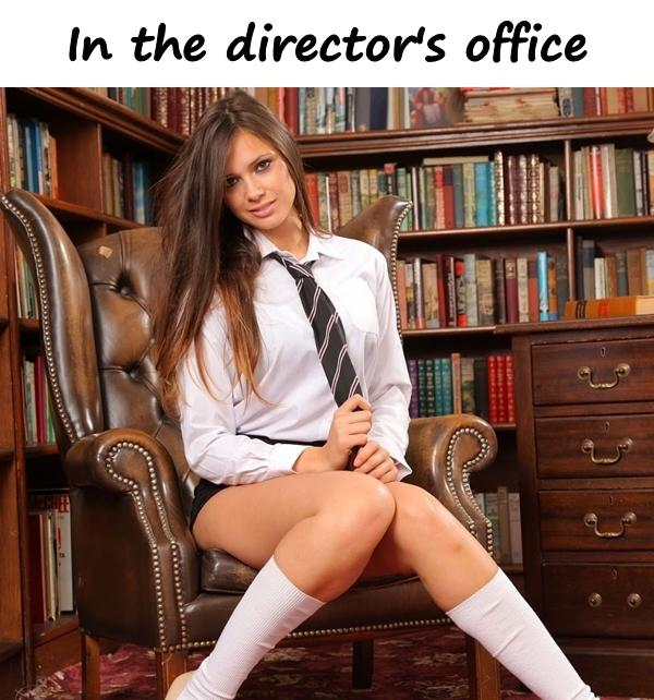 In the director's office