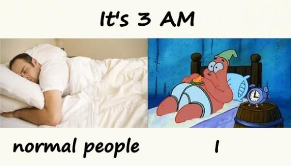 It's 3 AM
