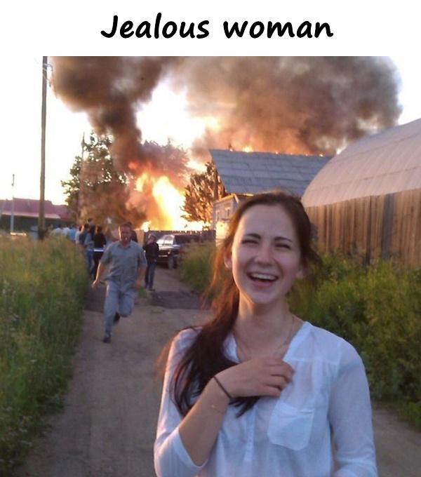 Jealous woman