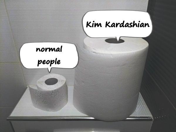 Kim Kardashian and normal people