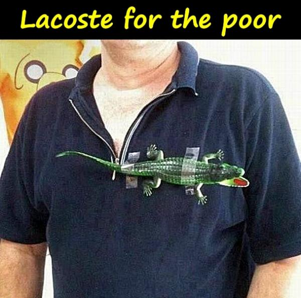 Lacoste for the poor