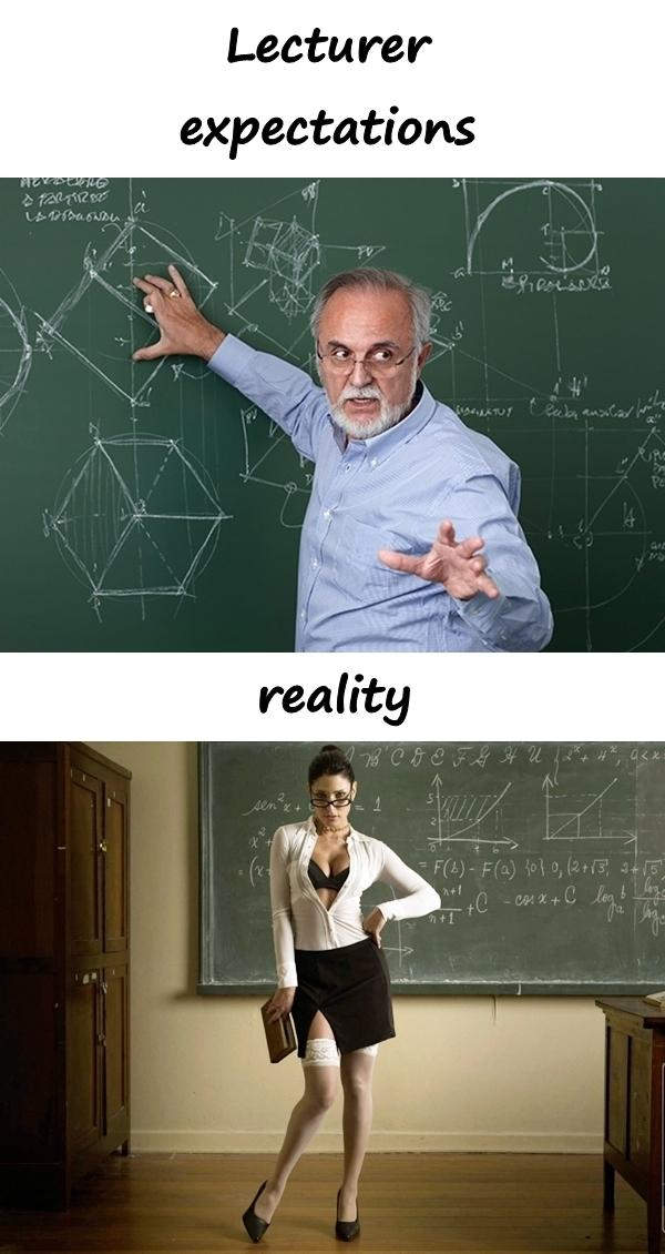 Lecturer: expectations and reality