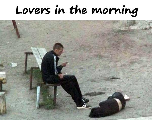 Lovers in the morning