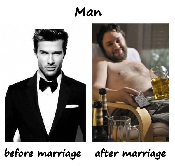 Man before marriage and after marriage