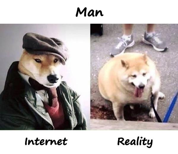 Man Internet and reality