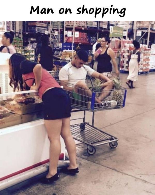 Man on shopping