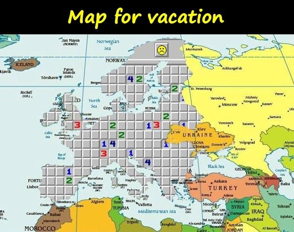 Map for vacation