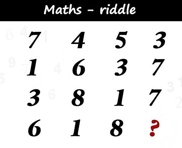 Maths - riddle