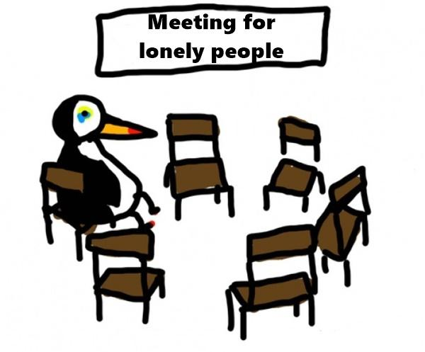 Meeting for lonely people