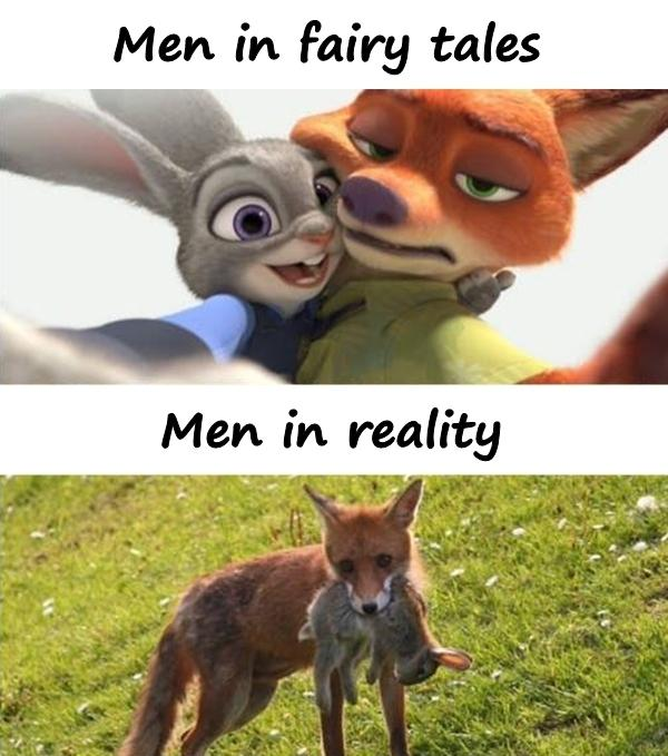 Men in fairy tales and reality