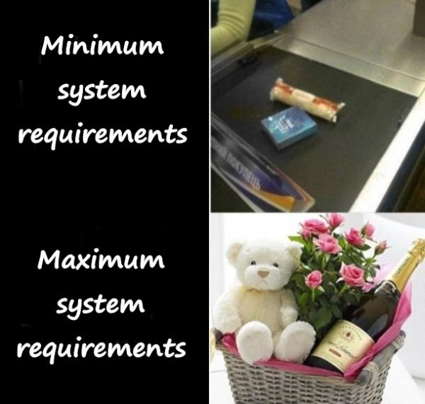 Minimum and recommended system requirements