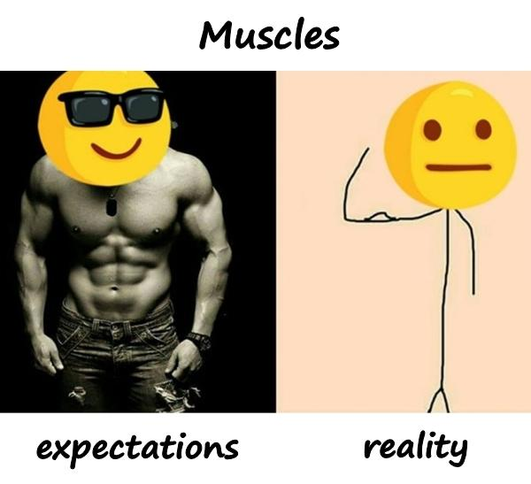 Muscles - expectations and reality