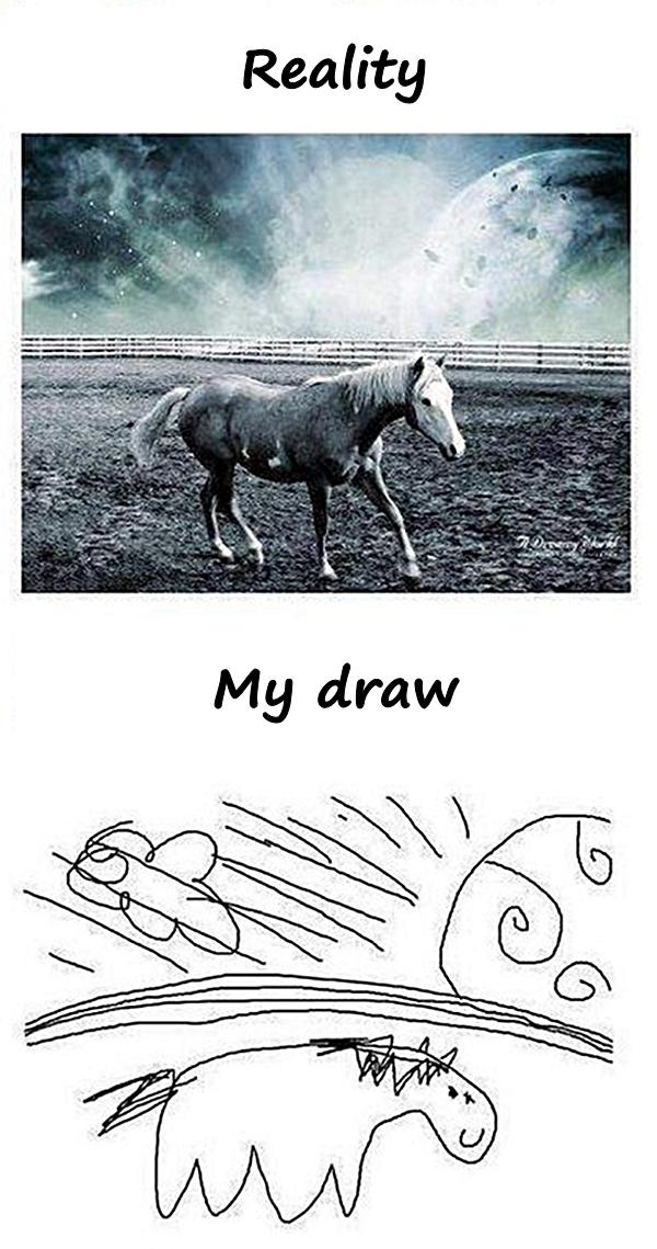 My draw and reality