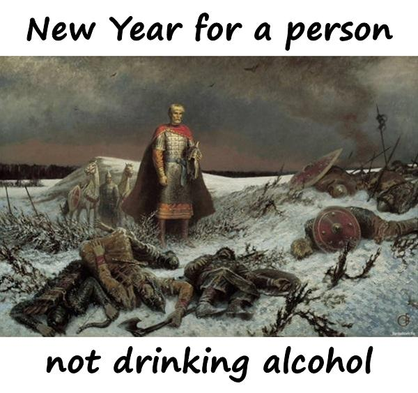 New Year for a person not drinking alcohol