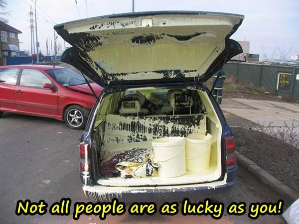 Not all people are as lucky as you