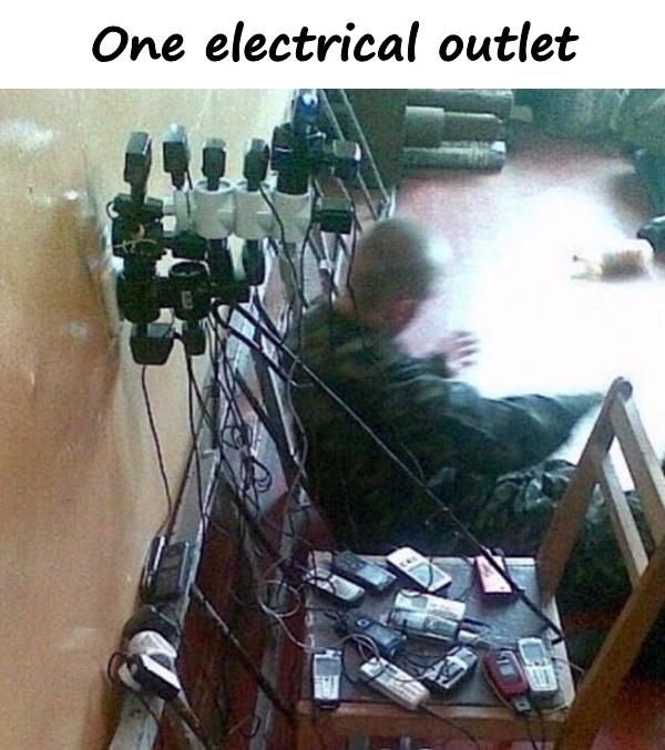 One electrical outlet