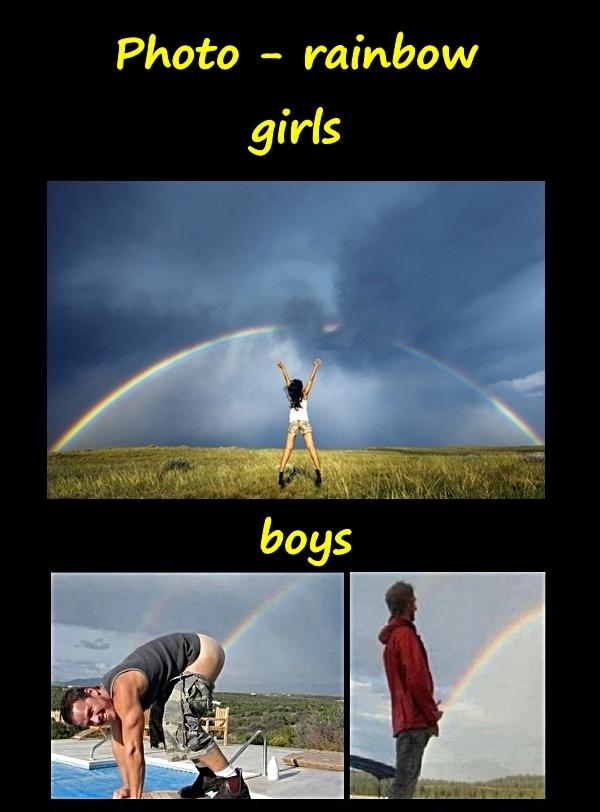 Photo - rainbow: girls and boys