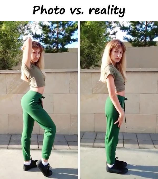 Photo vs. reality