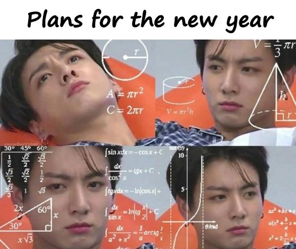 Plans for the new year