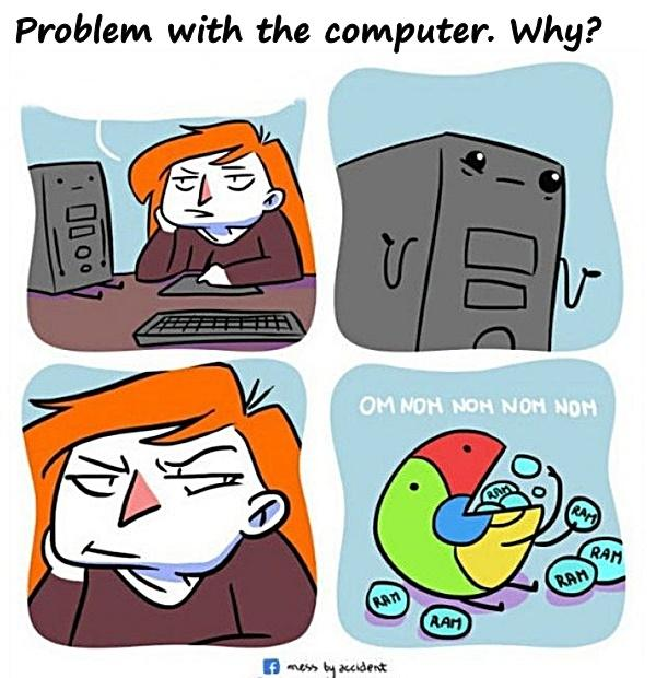 Problem with the computer. Why?