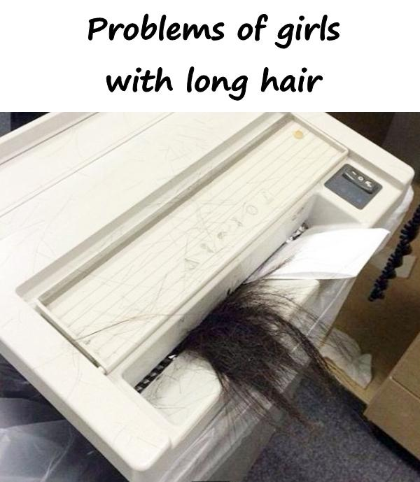 Problems of girls with long hair