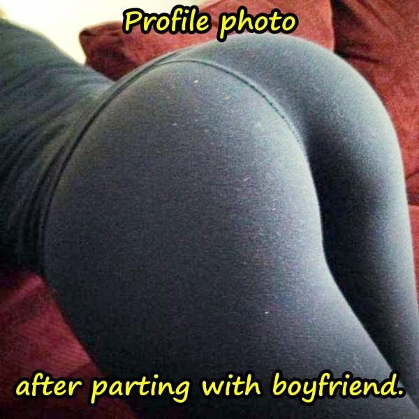 Profile photo after parting with boyfriend.