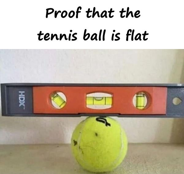 Proof that the tennis ball is flat