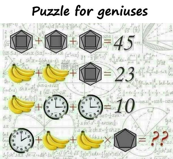 Puzzle for geniuses
