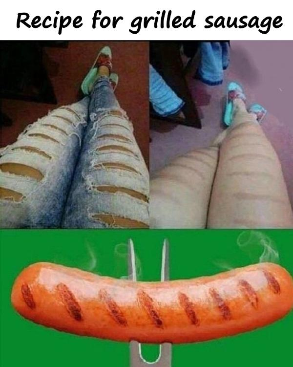 Recipe for grilled sausage