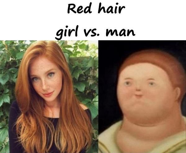 Red hair - girl vs. man