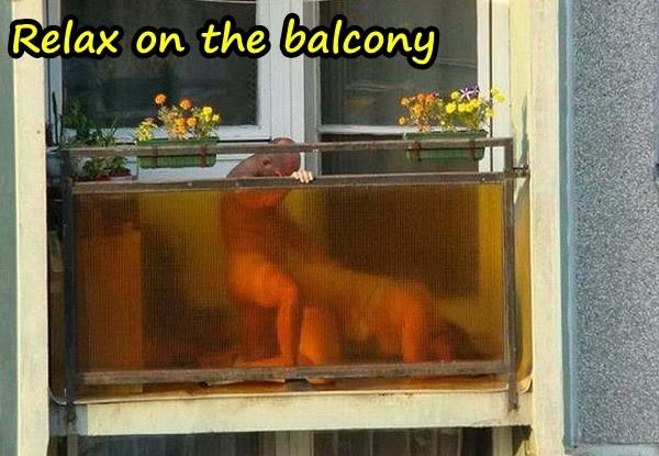Relax on the balcony