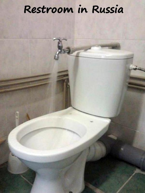 Restroom in Russia