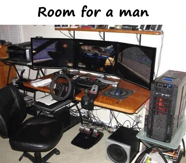 Room for a man