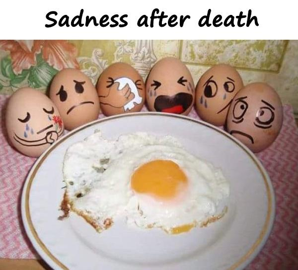 Sadness after death