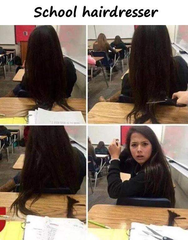 School hairdresser