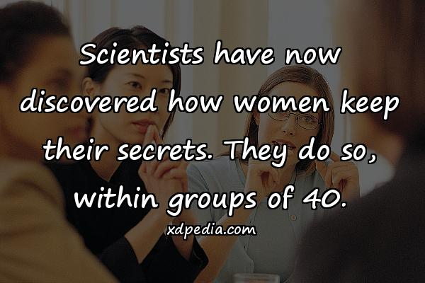Scientists have now discovered how women keep their secrets. They do so, within groups of 40.