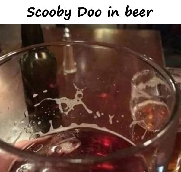 Scooby Doo in beer