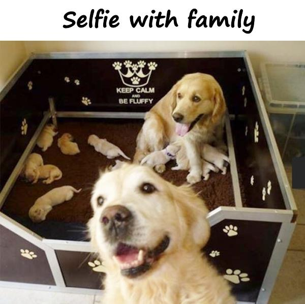 Selfie with family