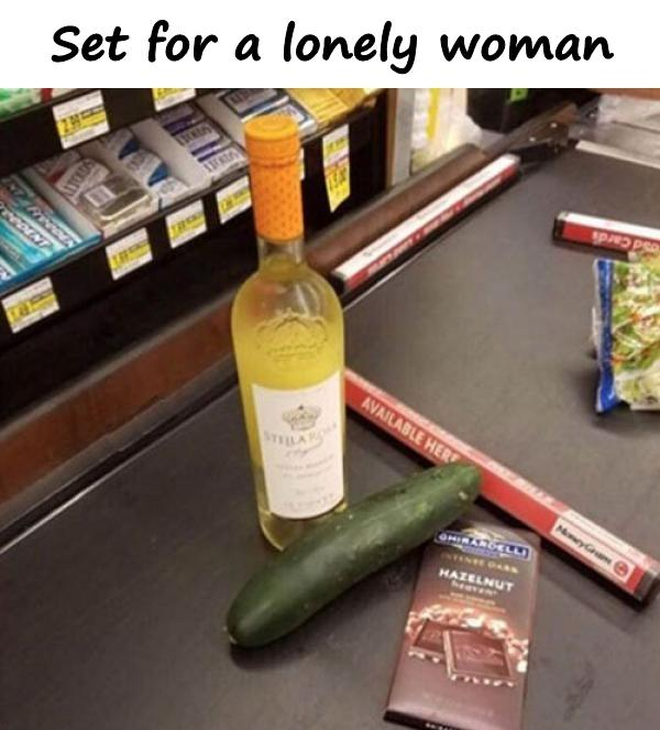 Set for a lonely woman