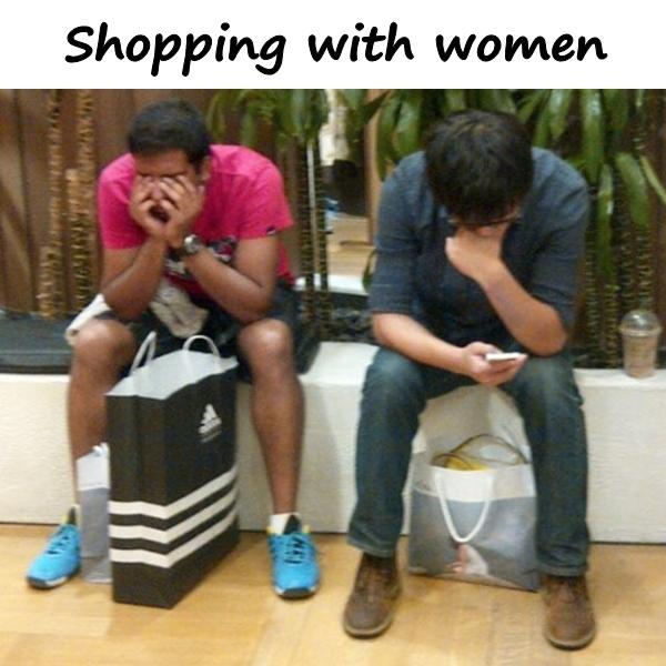 Shopping with women