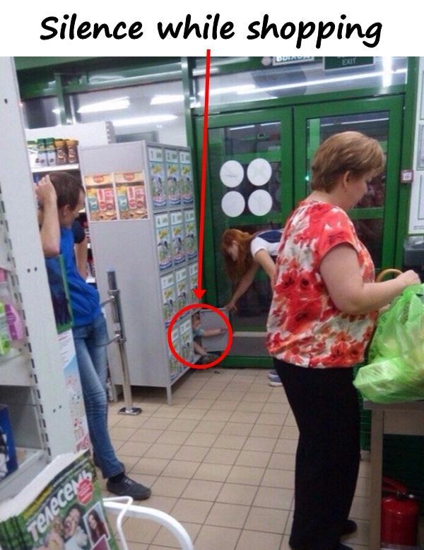 Silence while shopping