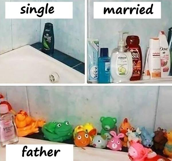 Single, married, father